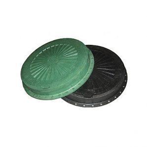 Люк пластмасовий легкий №1 3 т з замком чорний (13.06.1)