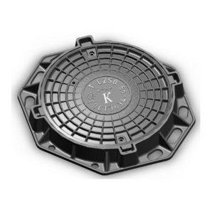 Люк чавунний каналізаційний важкий В-Л 25 т (2.04.3)