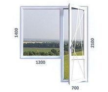Балконный блок с однокамерным энергосберегающим стеклопакетом REHAU Ecosol-Design 60 4-16-4i