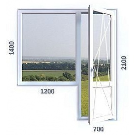 Балконний блок з однокамерним енергозберігаючим склопакетом REHAU Ecosol-Design 60 4-16-4i