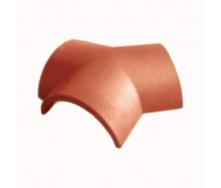Цементно-песчаная черепица Vortex соединитель коньков 4,8 кг кирпичная глянцевая