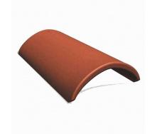 Коньковая черепица Vortex 250*420 мм кирпичная матовая
