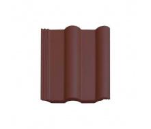 Цементно-песчаная черепица Vortex Двойная римская рядовая 330*420 мм коричнево-каштановая матовая