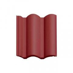 Цементно-піщана черепиця Vortex Венеціанська рядова 330х420 мм червона матова Київ