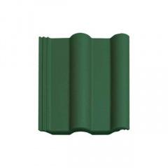 Цементно-піщана черепиця Vortex Подвійна римська рядова 330х420 мм зелена матова Київ