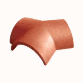 Цементно-песчаная черепица Vortex соединитель коньков 4,8 кг кирпичная матовая