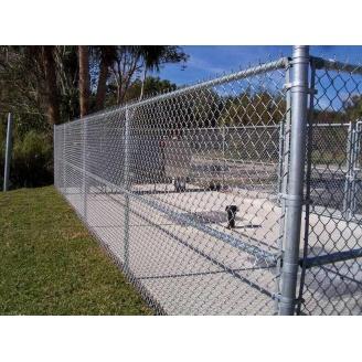 Забор из сетки оцинкованной