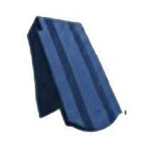 Керамическая черепица боковая левая Tondach Фальцева бобровка ОК Словения 180х400 мм синяя