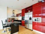 Кухня красная с чёрным