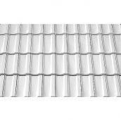 Керамічна черепиця вентиляційна Tondach Мульде Австрія 410х240 мм біла глазур