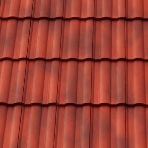 Керамічна черепиця бічна права Tondach Твіст Угорщина 300х500 мм червоний антік