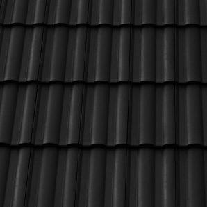 Керамическая черепица боковая правая Tondach Твист Венгрия 300х500 мм черная