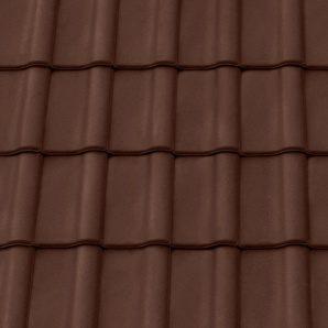 Керамическая черепица снегозащитная Tondach Румба Венгрия 300х500 мм коричневая