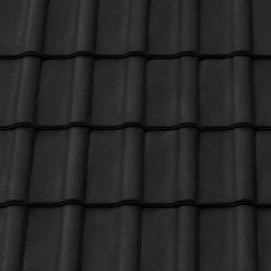 Керамическая черепица крайняя правая Tondach Румба Венгрия 300х500 мм черная
