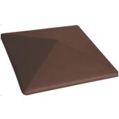 Крышка на забор King Klinker 445х445х90 мм коричневая