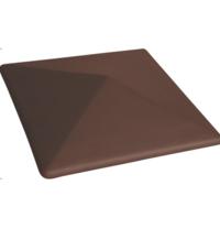 Крышка на забор King Klinker 310х310х80 мм коричневая