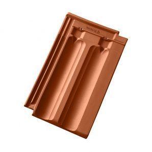 Керамическая черепица Tondach Фиделио Австрия 270х455 мм медно-коричневая