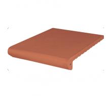 Ступень клинкерная King Klinker Wenecka гладкая 330x245x14 мм красная