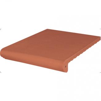 Ступень клинкерная King Klinker Antyczna гладкая 330x245x16 мм красная