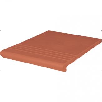 Ступень клинкерная King Klinker Weneska рифленая 330x330x14 мм красная