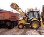 Уборка снега погрузчиками