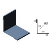 Планка внутрішнього кута САВ ПВУ-01 цинк 2000 х 220 мм
