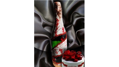 Декорирование бутылок — мастер класс