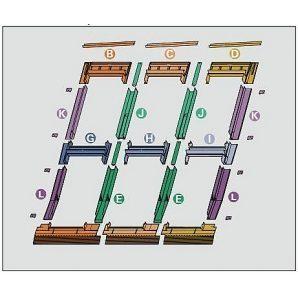 Оклад Roto EDR 3х2 для комбинированных установок из нескольких окон 65х118 см
