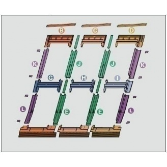 Оклад Roto EDR 3х2 для комбинированных установок из нескольких окон 94х160 см