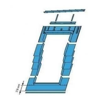 Оклад Roto EDR SNO для плоских покрівельних покриттів 54х78 см