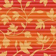 Плиссированная штора Roto ZFA 74х140 см оранжевые цветы D-143