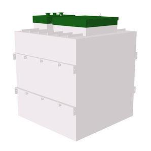 Автономная канализация ТОПОЛ-ЭКО ТОПАЭРО 6 Пр 2,16x2,2x2,6 м