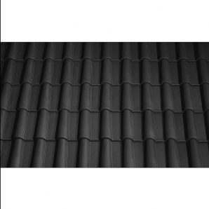 Черепица керамическая вентиляционная Tondach Романская Чехия 280х465 мм черная