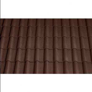 Черепица керамическая вентиляционная Tondach Романская Чехия 280х465 мм коричневая