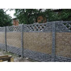 Забор бетонный декоративный односторонний