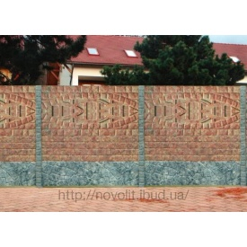 Изготовление бетонного ограждения Мрамор из бетона