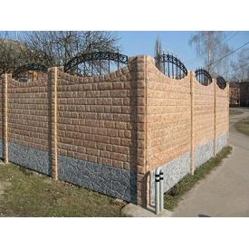 Изготовление еврозабора мрамор из бетона