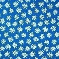 Солнцезащитная штора Roto Exclusiv ZRE 94х140 см голубые маргаритки A-208