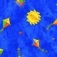 Затемняющая штора Roto ZRV 94х118 см голубая детская D-265