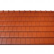 Черепиця керамічна вентиляційна Tondach Фігаро Делюкс Австрія 424х241 мм червона