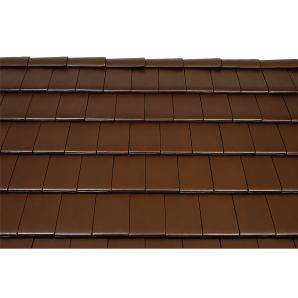 Черепица керамическая вентиляционная Tondach Фигаро Делюкс Австрия 424х241 мм коричневая