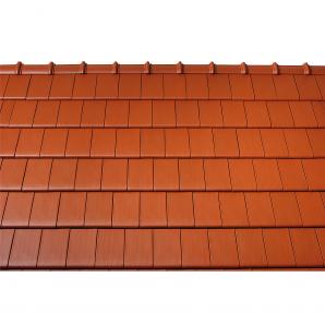 Черепица керамическая половинчатая Tondach Фигаро Делюкс Австрия 424х120 мм красная