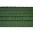 Черепица керамическая половинчатая Tondach Фигаро Делюкс Австрия 424х120 мм темно-зеленая
