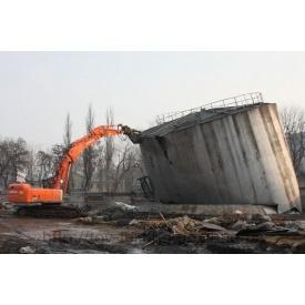 Демонтаж металоконструкцій екскаватором