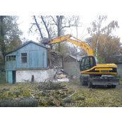 Знесення будівель екскаваторами