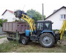 Погрузка мусора погрузчиком Борекс 2201