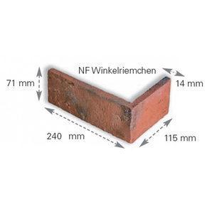 Клінкерна плитка ABC Klinkerguppe кутовий елемент BR 240х115х71х15 мм