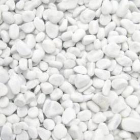Декоративная мраморная галька Каррара 5-12 мм 25 кг белая