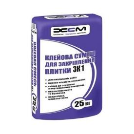Клей для плитки ХСМ ЗК1 25 кг