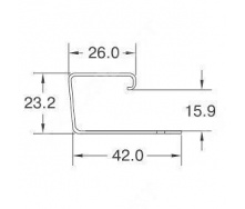 J-профиль Holzplast 3,66 м светло-бежевый